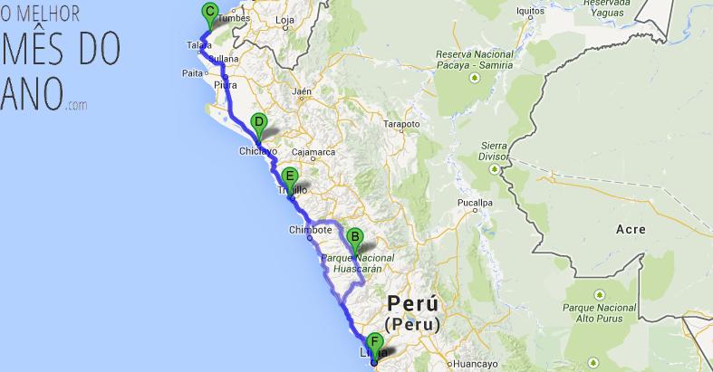 [Planejamento] 4º mochilão – Norte do Peru