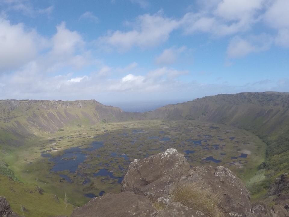 Orongo: vulcão, aldeia cerimonial e uma vista maravilhosa do Pacífico