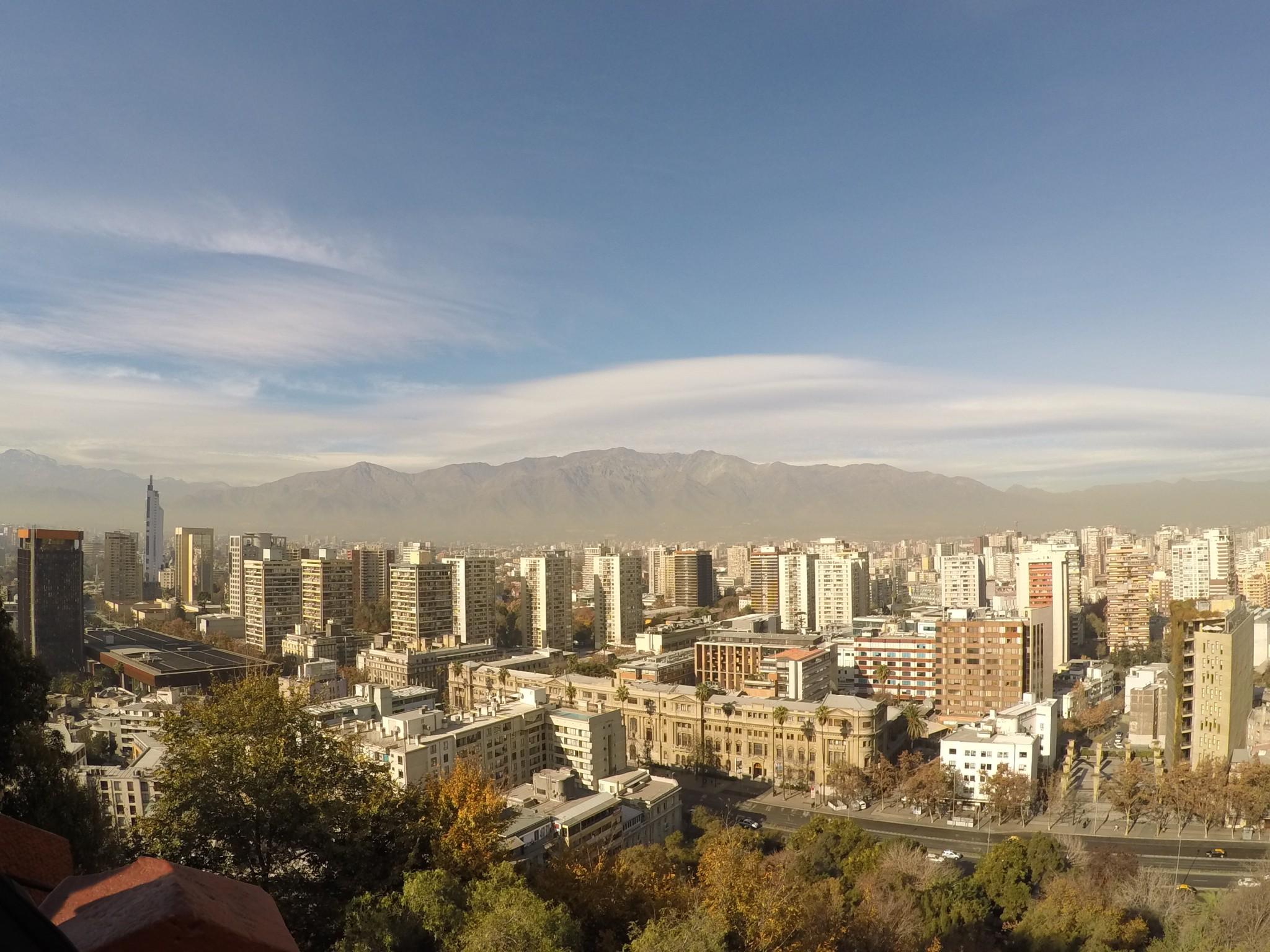 Os Cerros de Santiago: San Cristobal e Santa Lucia