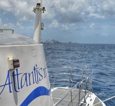 Um passeio de submarino em Barbados